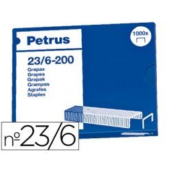 Grapas petrus nº 23/6 -caja de 1000 3761-23600