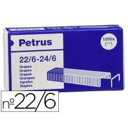 Grapas petrus nº 22/6 galvanizada caja de 1000 unidades