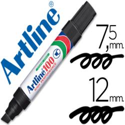 Rotulador artline marcador permanente 100 negro -punta biselada
