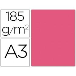Cartulina guarro din a3 fucsia fluorescente 185 gr paquete 50 h