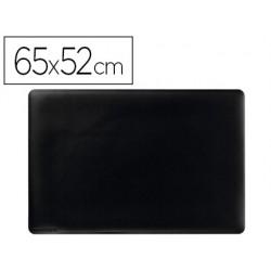 Vade sobremesa durable negro antideslizante contorneado 65x52