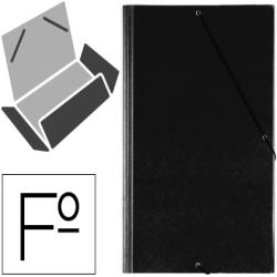 Carpeta gomas solapas plastico saro folio negra 22855-321G-N