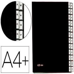 Carpeta clasificadora fuelle pardo carton compacto folio 24