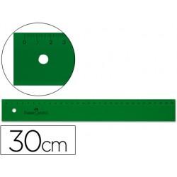 Regla faber 30 cm plastico verde 6988-813