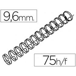 Espiral wire 3:1 9,6 mm n.6 negro capacidad 75 hojas caja de