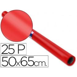 Papel charol rollo rojo -25 hojas de 50x65 cm 22085-12903