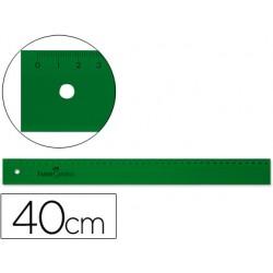 Regla faber 40 cm plastico verde 6989-814