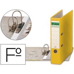 Archivador de palanca elba carton forrado folio amarillo -lomo