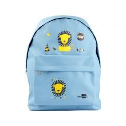 Cartera escolar liderpapel mochila leon color celeste