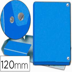 Carpeta proyectos pardo folio lomo 120 mm carton forrado azul