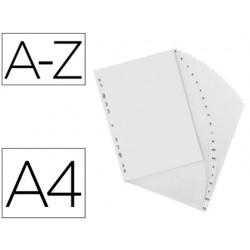 Separador alfabetico elba plastico 120 mc folio 16 taladros a-z