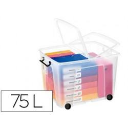 Contenedor plastico cep 75 litros 485x600x415 mm transparente