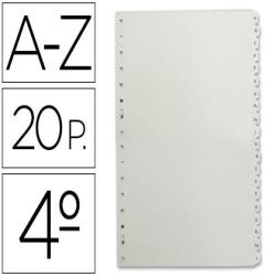 Separador alfabetico multifin plastico 3002 3836-4635200