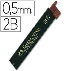Minas faber grafito 9065 0,5 mm 2b -estuche de 12 minas