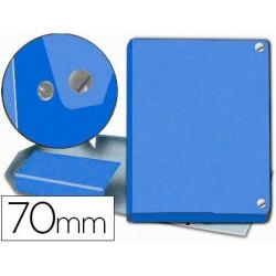 Carpeta proyectos pardo folio lomo 70 mm carton forrado azul