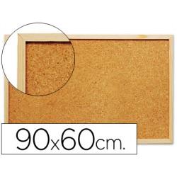 Pizarra corcho q-connect 90x60 cm marco de madera 21814-KF03567