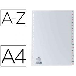 Separador alfabetico elba plastico 120 mc din a4 11 taladros