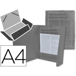 Carpeta liderpapel gomas solapas 34965 polipropileno din a4