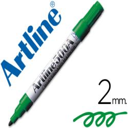 Rotulador artline pizarra ek-500 verde punta redonda 2 mm