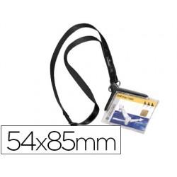 Identificador con cordon plano durable acrilico diagonal