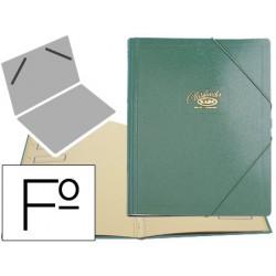 Carpeta clasificador carton compacto saro folio verde -12