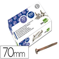 Encuadernadores liderpapel n.12 70 mm -caja de 100 niquelados