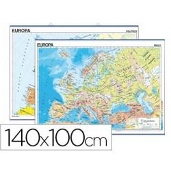 Mapa mural europa fisico/politico -140 x 100 cm 4913-6102.8