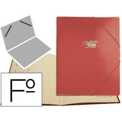 Carpeta clasificador carton compacto saro folio roja -12