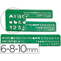 Normografo escolar -juego de 3 5088-150024
