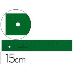 Regla faber 15 cm plastico verde 6986-810