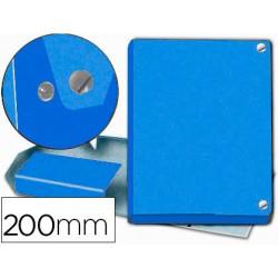 Carpeta proyectos pardo folio lomo 200 mm carton forrado azul