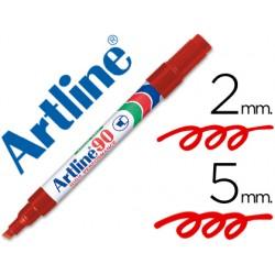 Rotulador artline marcador permanente ek-90 rojo -punta