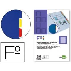 Separador liderpapel plastico juego de 5 separadores folio 16