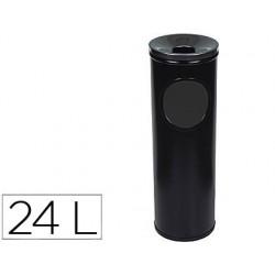 Cenicero papelera redondo 401 negro -metalico -medida 66x21.5