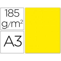 Cartulina guarro din a3 amarillo fluorescente 185 gr paquete 50