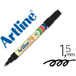 Rotulador artline marcador permanente ek-70 negro -punta