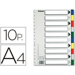 Separador esselte plastico juego de 10 separadores din a4con 5