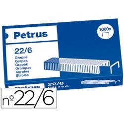 Grapas petrus nº 22/6 -caja de 1000 3758-55721