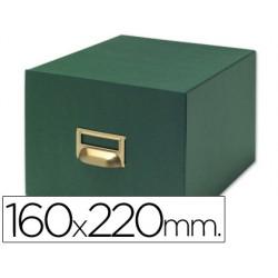 Fichero fichas tela verde 500 fichas n.5 -tamaño 160x220 mm