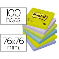 Bloc de notas adhesivas quita y pon post-it 76x76 mm ultra