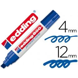 Rotulador edding marcador permanente 800 azul -punta biselada