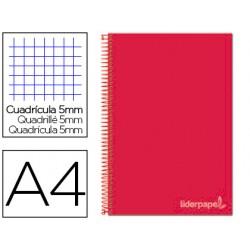 Cuaderno espiral liderpapel a4 micro jolly tapa forrada 140h 75