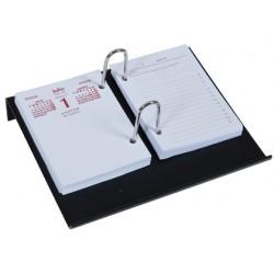 Portacalendario plastico q-connect negro 6382-KF14817