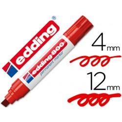 Rotulador edding marcador permanente 800 rojo -punta biselada