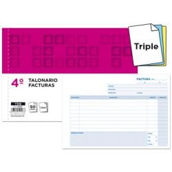 Talonario liderpapel facturas cuarto original y 2 copias t318