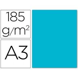 Cartulina guarro din a3 azul turquesa 185 gr paquete 50 h
