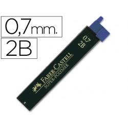 Minas faber grafito 9067 0,7 mm 2b -estuche de 12 minas