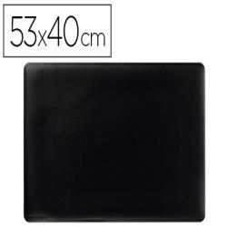 Vade sobremesa durable negro antideslizante contorneado 53x40