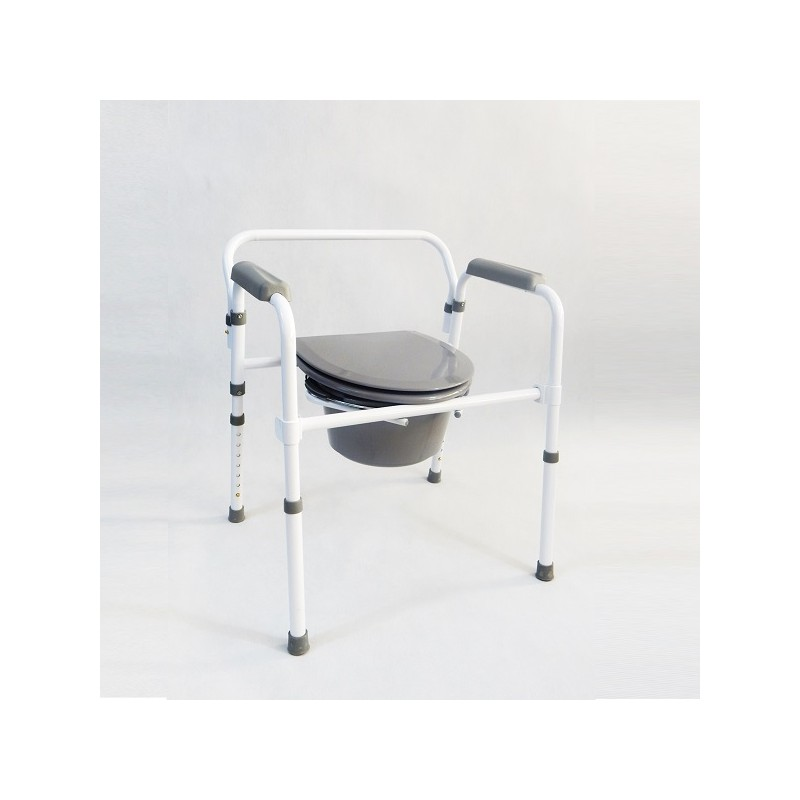 Bathroom chair with WC | Foldable | Adjustable in height