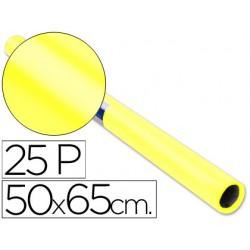 Papel charol rollo amarillo -25 hojas de 50x65 cm 22088-12911
